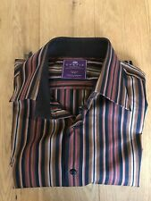 Men's HAWES & CURTIS Striped Shirt Size Medium Long Sleeve Great Condition
