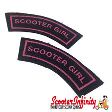 Patch Clothing Sew On - Scooter Girl  (110mm, 35mm) (Mod / Vespa / Lambretta)