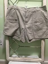 Womens Polo Jeans Co by Ralph Lauren Casual Cargo Shorts  Size 14 Khaki