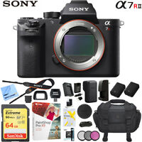Sony a7R II Full-Frame Alpha Mirrorless Digital Camera Body Black 4K Pro Bundle