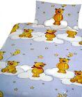 Linge De Lit Pour Enfants Ours Teddy Lune Étoiles Nuages Bébé 100x135cm