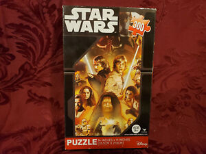 RARE Star Wars Jigsaw Puzzle Luke Skywalker 300 Pieces Disney NEW 11 x 14 SEALED