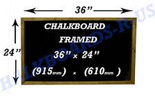 "CHALKBOARD - BLACKBOARD-MENU-SPECIALS BOARD  SOLID WOOD FRAME - 24"" x 36""  D/O"