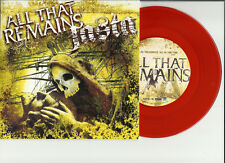 Shadows  Fall ALL THAT REMAINS JASTA 1000 Made 7 INCH RED VINYL Record Store day