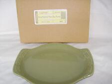SAGE Green Small Oval Platter Snack Plate Serve Baking Dish Longaberger