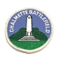 Vintage Iron On Embroidered Patch Chalmette Battlefield Historic Monument Round