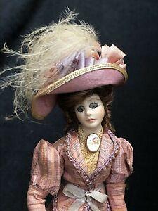 Vintage Dolls House 1/12 Artisan Porcelain Doll Sandy K Glass Eyes Pr Condition