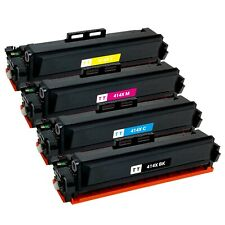 4 x Toner Cartridge for HP 414X LaserJet M454dn M454dw M479fdn M479fdw (No Chip)
