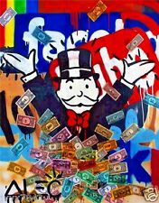 Alec Monopoly Oil Painting on Canvas Urban art wall decor No Frame 36