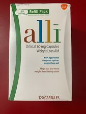 AUTHENTIC Alli Weight Loss Pill 60mg Refill ~120ct Capsule ✅SEALED Free Shipping