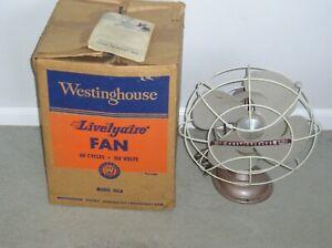 Vintage Westinghouse Model 12LA Livelyaire Desk Fan in Original Box w/ Instruct.