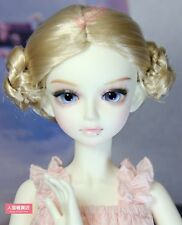 BJD Doll 1/4 7-8 Wig Short Hair Bun Pixie Cut Mohair for Girl Blonde