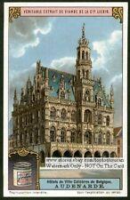 Audenarde Belgium Town Hall 1920s Trade Ad Card