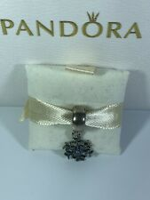"""NEW AUTHENTIC PANDORA """"Crystalized Snowflake"""" Blue Crystals & Clear CZ Charm"""