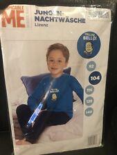 Schlafanzug von Minions für Jungen Gr 104 NEU OVP Blau