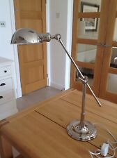 Nickel Angled Desk Lamp silver colour with two adjustable angles Good Condition