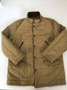 Vintage Mens Beretta Hunting Field Shooting Jacket Size 42 Tan Beige Outdoor