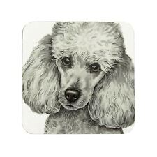 Waggy Dogz Blanco Miniatura Caniche Cachorro Hecho en el RU Regalo Posavasos