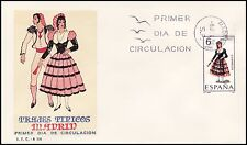 SOBRE MAT.PRIMER DIA MADRID 1969 TRAJES TÍPICOS MADRID EDIFIL Nº 1904