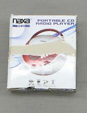 new Naxa Electronics Portable Cd Player with Am/Fm Stereo Radio- Red