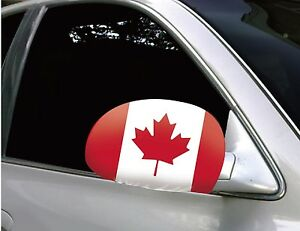 Canada Car Mirror Flags/Covers (pair) Canada 150th Birthday Celebration