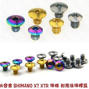 2x Titanium screws for SHIMANO XT XTR racing bike disc brake oil cylinder cap