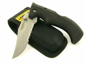 Lansky Easy Grip Knife + Nylon Sheath, Ambidextrous Lockback Design #LKN030