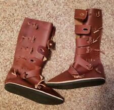 Medieval Renaissance Festival Leather Custom Boots Size 11