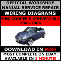 # OFFICIAL WORKSHOP Repair MANUAL for MINI COOPER S CONVERTIBLE 2002-2006  #
