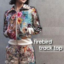 a53be63d1725 adidas X Farm Women s Firebird Confete Track Jacket Floral Print Retro Top  Multi 8