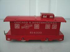 Vintage Tin Litho Hafner Chicago & Northwestern System Caboose