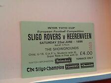 Football Ticket - UEFA - Sligo Rovers - Heerenveen European competition