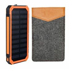Solar Power Bank Phone Charger 15000mAh Portable Charger with 2 Fast Charging