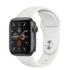 Apple Watch Series 5 40mm Space Gray Aluminum (GPS+ Cellular) White Sport Band