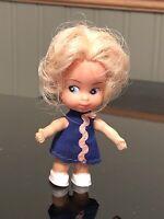 Vintage U.D. Co Inc Hong Kong Uneeda Pee Wees Blond Miniature Bendable Doll 60s