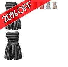 FashionOutfit Women's Casual Stripe Tube Romper