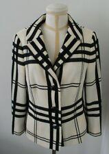 RENA LANGE Fitted Black & Ivory Wool Blend Jacket/Blazer  - Size 14