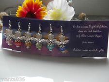 6 Guardian Angel Rhinestones Card Good Luck Charm Gifts For Guests Wedding