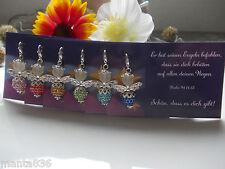 6 ANGELO CUSTODE STRASS Biglietto portafortuna regali per gli ospiti matrimonio