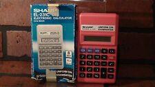 Sharp Electronic PINK Calculator EL-231C Elsi Mate Uniform CPA Examination WORKS