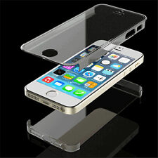 Transparent Full Body Front Back Hard mobile phone Case Cover For iPhone 5 5S