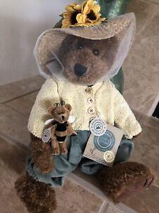 Boyds Bears AUNTIE MARGUERITE & TOPAZ F WUZZIE #C57691 QVC LE Bee Keeper🐝🐻 MWT