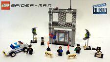 SPIDER-MAN ACTION STUDIO, Lego 1376, Bank Heist Movie Set, Audited 100% Complete