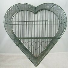 "Heart Shaped Bird Cage 15"" X 14"" Metal Decoration"