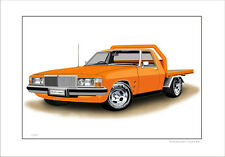 HOLDEN  WB STATESMAN FRONT END  1TONNER FLATBED    LTD CAR PRINT (7 CAR COLOURS)