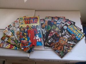 MARVEL: INFINITY GAUNTLET #1(SIGNED)-6 & INFINITY WAR #1-6, COMPLETE SETS, 1991!