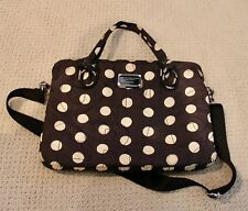 MARC JACOBS Navy and White Polka Dot Laptop Bag