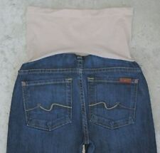 7 for all Mankind Pea in Pod Bootcut Maternity Jeans Sz 25 w Wide Panel Stretch