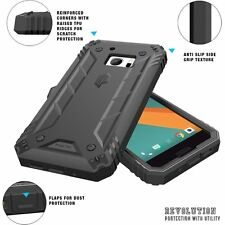 For HTC 10 Case Black POETIC【Revolution】Rugged Heavy Duty Built-In Screen Cover