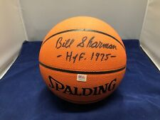 Bill Sharman Autographed NBA Outdoor Basketball PSA Certificate